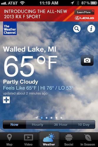 Weather App iPhone