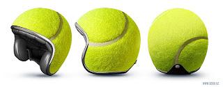 capacete cabeça de bola de tenis