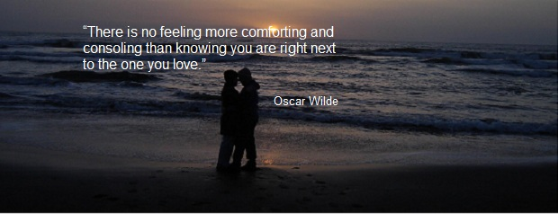 oscar wilde quote:  ...right next to the one you love