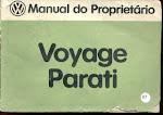 MANUAL VOYAGE e PARATI 1983