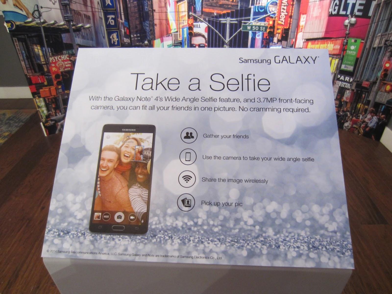 Terresa 39 s steals and deals the samsung galaxy studio for Creative selfie wall
