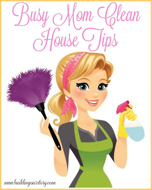 Busy Mom Clean House Tips, cleaning tips for moms, decluttering tips, clean the house fast, tips for a clean house, chores for the family, keeping a clean home