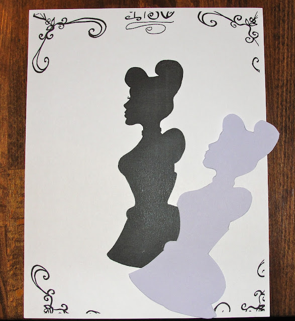 Cinderella colored silhouettes