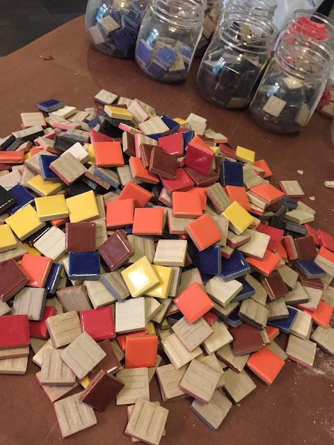 Ceramic tiles from Hobby Lobby.