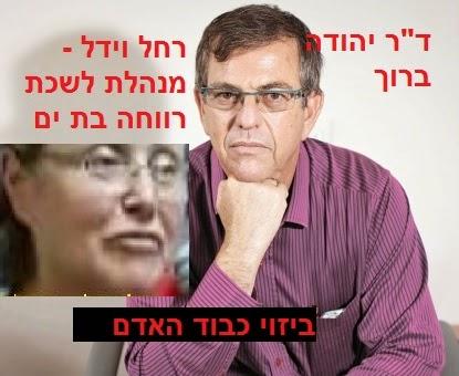 """ד""""ר יהודה ברוך - רחל וידל מנהלת לשכת הרווחה בת ים - ביזוי כבוד האדם"""