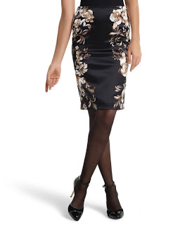 Silk Charmeuse Pencil Skirt