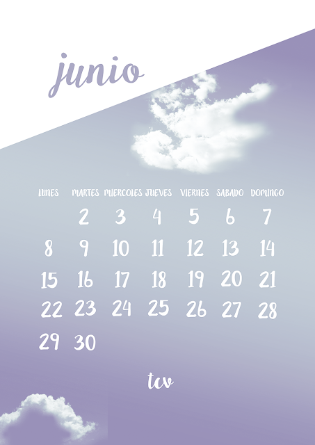 Calendario junio DESCARGABLE