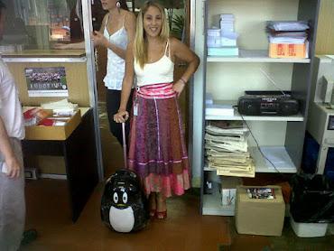 Ofi con mi pingüi...
