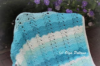 Caron Cakes Ripple and Shells Lapghan Pattern, $2.99
