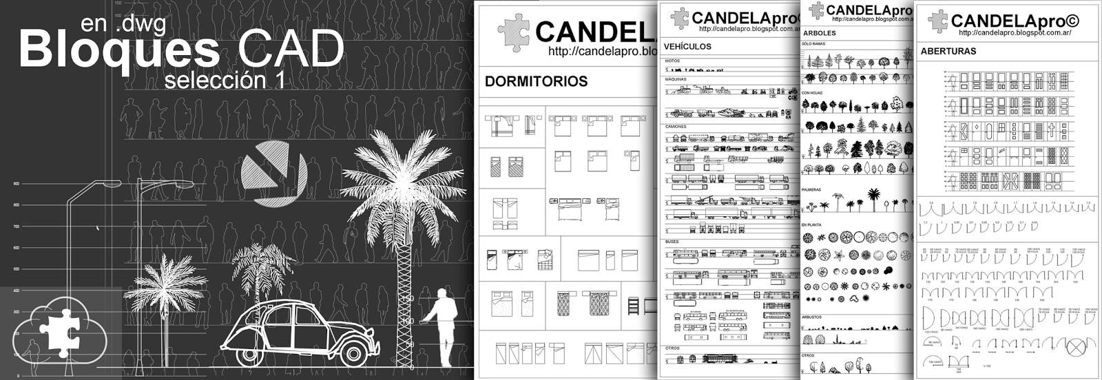 Bloques CAD | selección 1 | dwg |