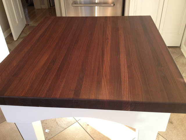 The Impatient Gardener -- Walnut butcher block top