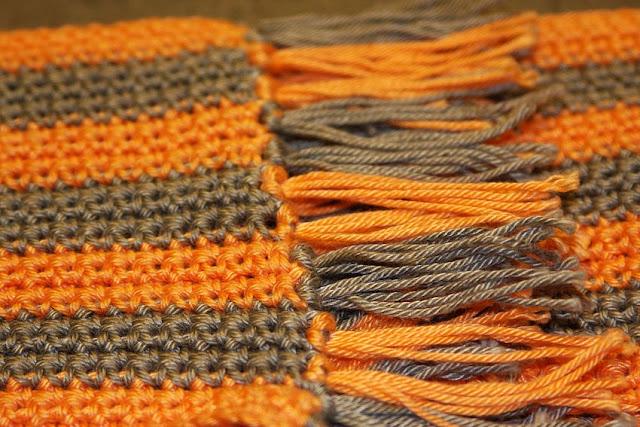 вязанный шарф крючком