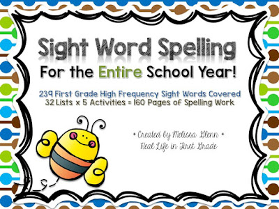 Sight Word Spelling for the Entire Year