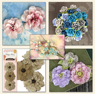Scraps of Elegance July 2013 Home Sweet Home Kit Floral Add On