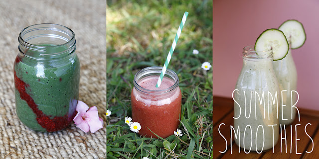 Three different summer smoothies