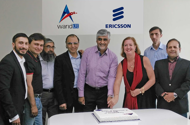 Ericsson congratulates Warid Telecom on 10thAnniversary