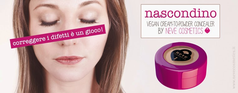NEVE COSMETICS - Nascondino Vegan  cream - to - powder Concealer dupe erase paste benefit correttore crema - correttore aranciato clio make up