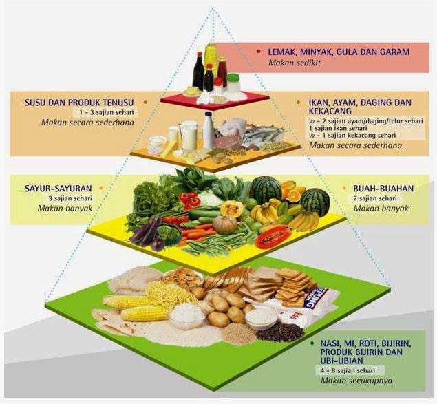 Piramid Makanan untuk rakyat malaysia