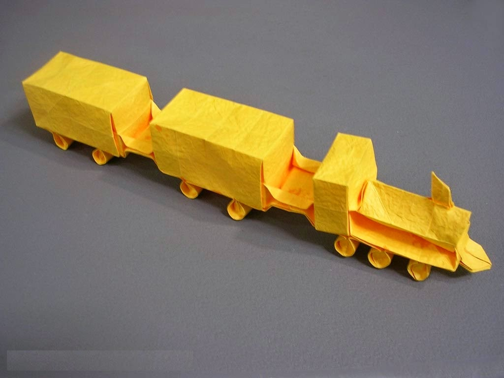 Projects Art And Craft Easy Origami Train For Kids