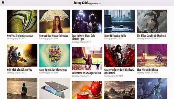 Johny Grid Free Blogger Template 2015 - Msn4Free - Free Blogger Templates 2015