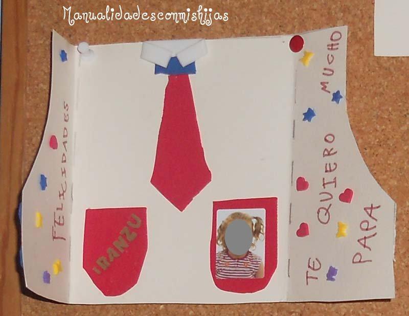 Manualidades Con Mis Hijas Camisa Tarjeta Para El Dia Del Padre