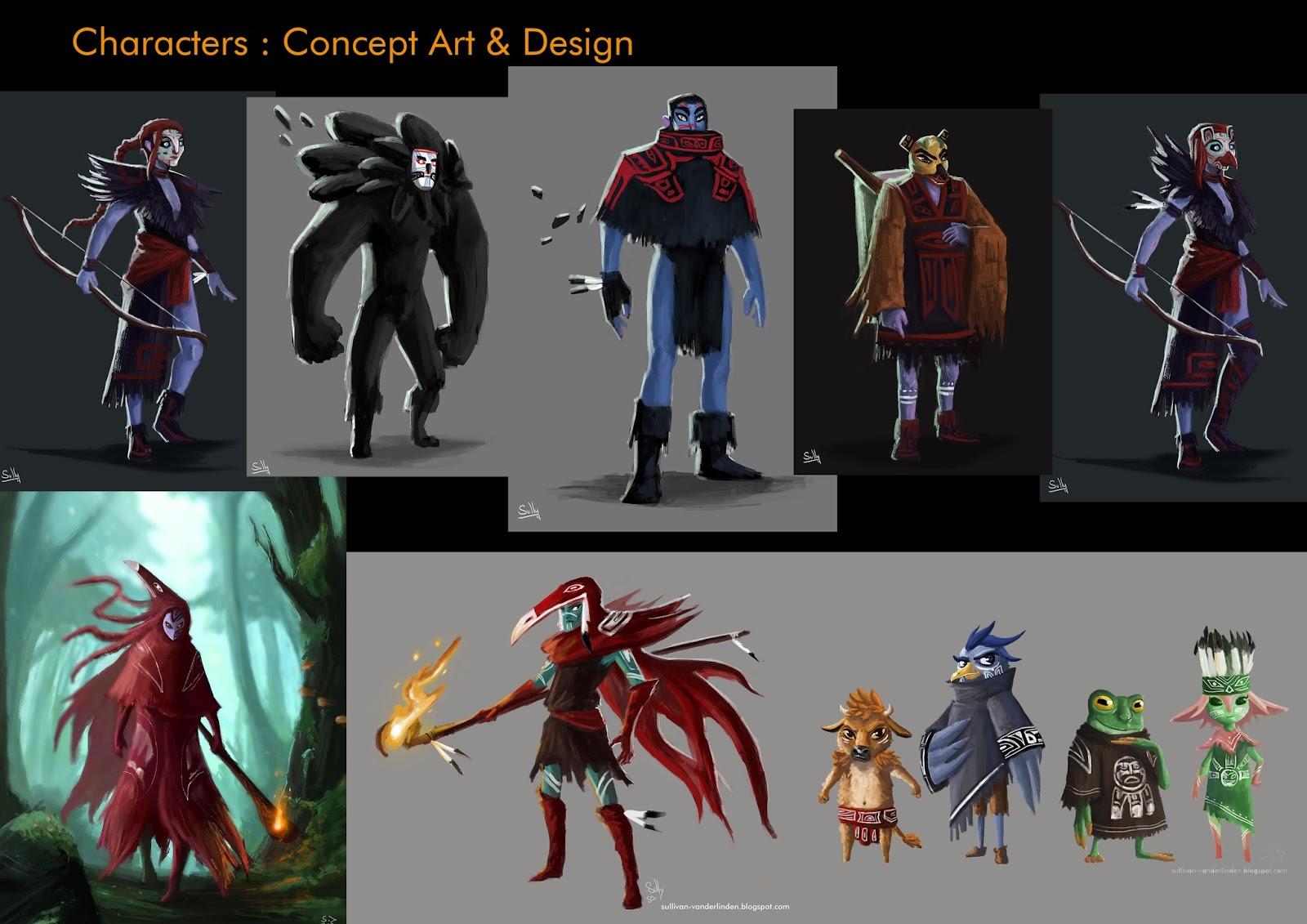 Sullivan vanderlinden portfolio character design villain