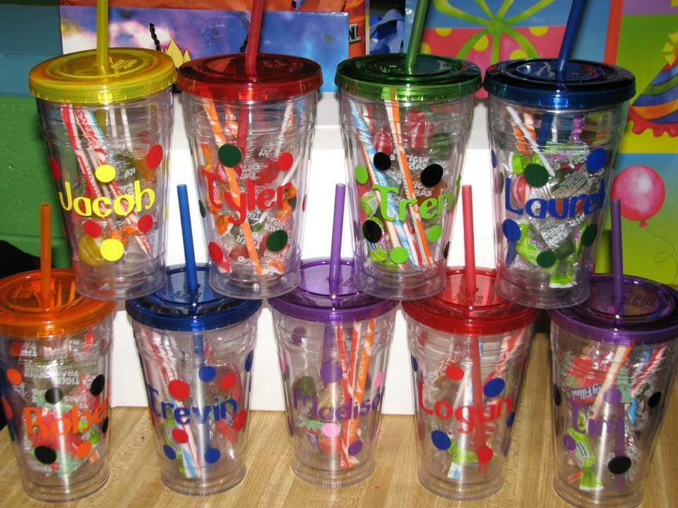 YourNameHereCups: BIrthday Party Favors