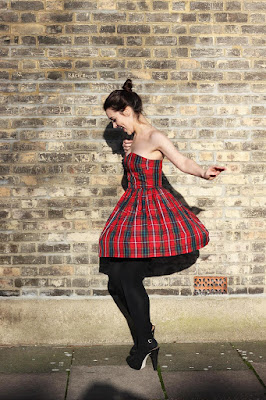 Jack Wills tartan dress