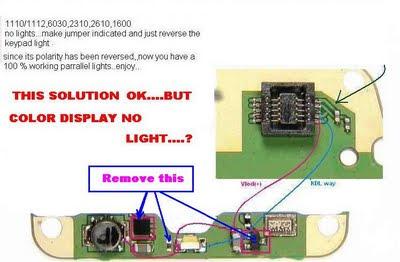 NOkia 1110 1112 1600 2310 2610 LCD Light Solution Ways