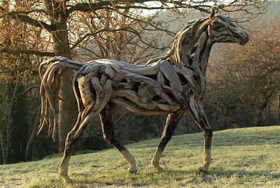 Horse made out of Driftwoods
