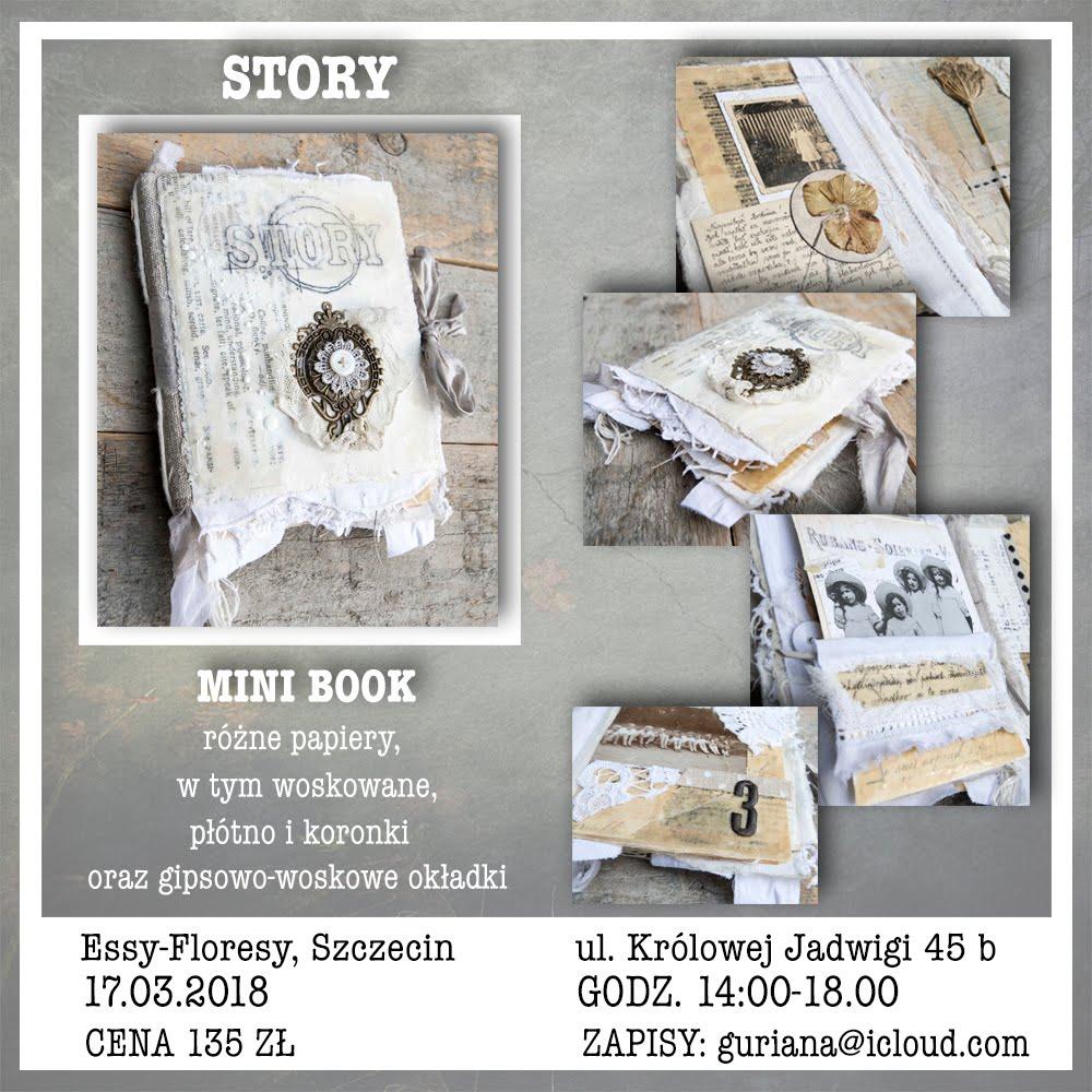 enkaustyczny warsztat w Szczecinie mini book STORY