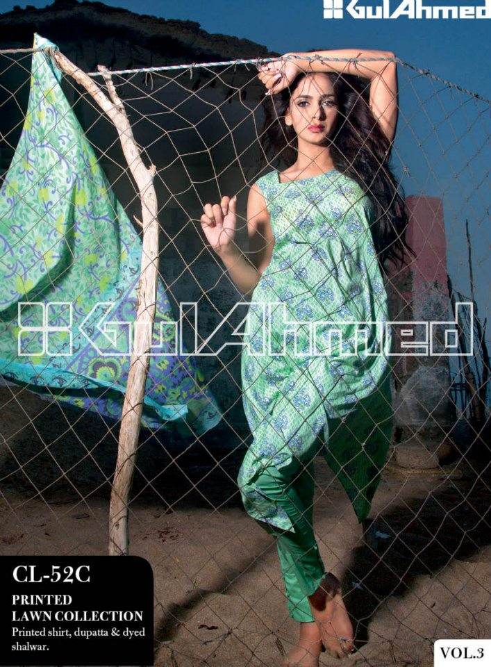 Gul Ahmed Lawn Vol 3 | Gul Ahmed Summer Lawn Magazine 2013