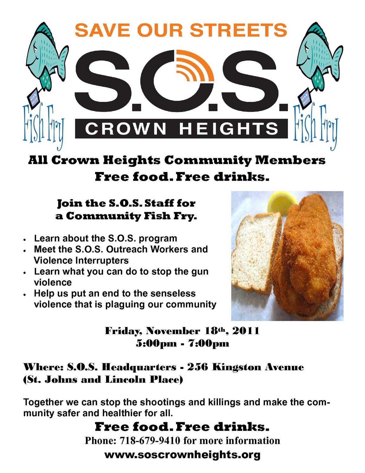 S o s crown heights and s o s bed stuy november 2011 for Bed stuy fish fry nostrand ave