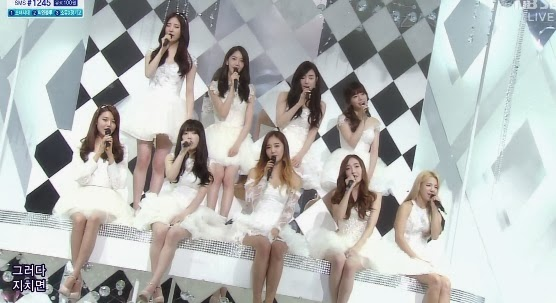 140309 Girls' Generation won first place on Inkigayo with Mr.Mr.