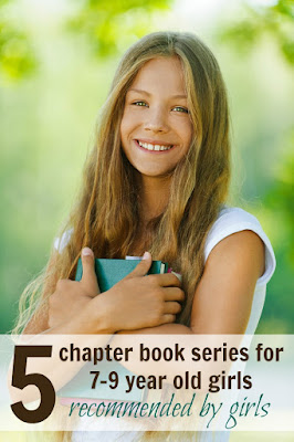 Five perfect chapter book series for 7-9 year old girls -- recommended by girls! Great middle-grade books for second, third, and fourth graders.