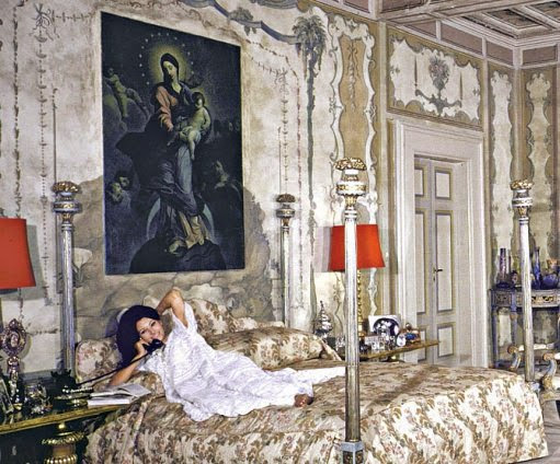 Sophia Loren at home.