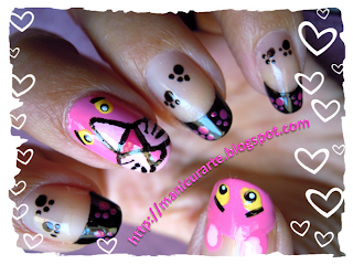 pink panther nails