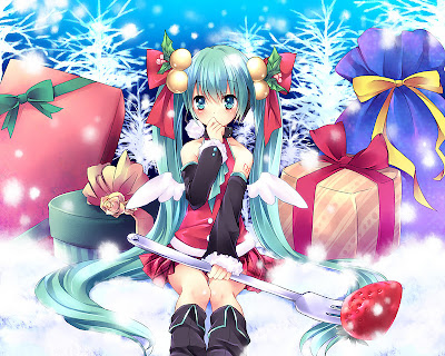 otaku club a miku miku christmas gallery 2. Black Bedroom Furniture Sets. Home Design Ideas