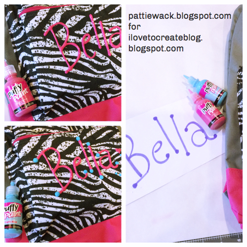 get wacky and crafty with pattiewack puffy paint backpack for back