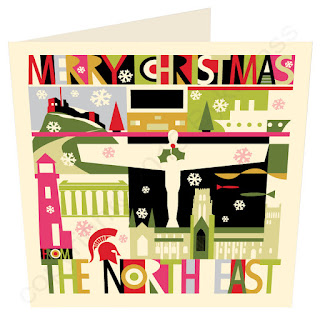 Christmas Card North East City Scape by Wotmalike