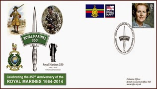 United Kingdom: -BFPS- Royal Marines 350 Anniversary