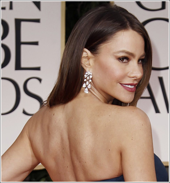 Sofia Vergara 2012 golden Globes Makeup By Covergirl - MyThirtySpot