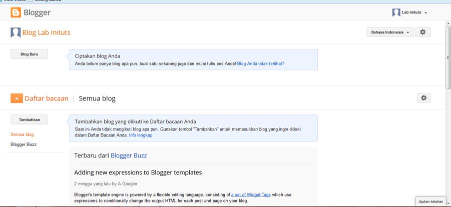 Tutorial Membuat Blog di Blogger