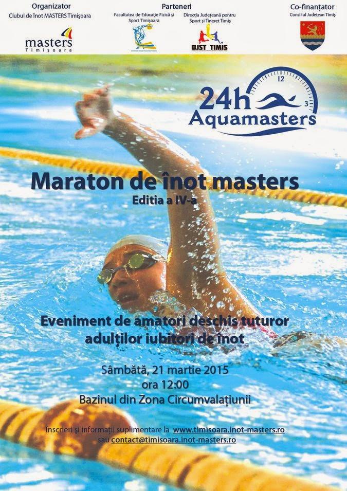 Maraton de înot, 24 AquaMasters, Timişoara, 21 - 22 Martie 2015