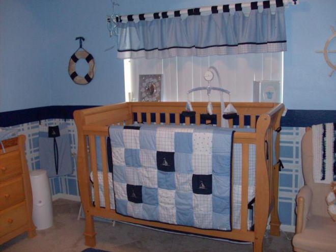 Dormitorio para beb var n dormitorios colores y estilos for Como decorar cuarto de bebe varon