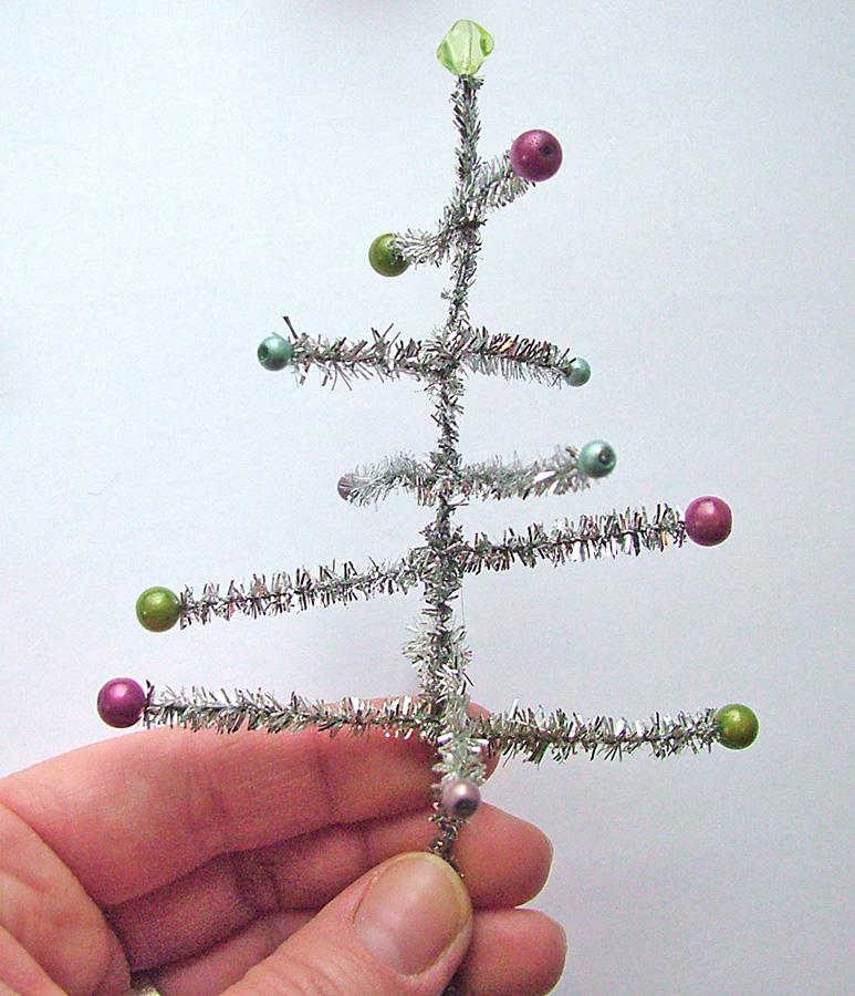 small world land day 13 tiny tinsel christmas tree - Tiny Christmas Tree