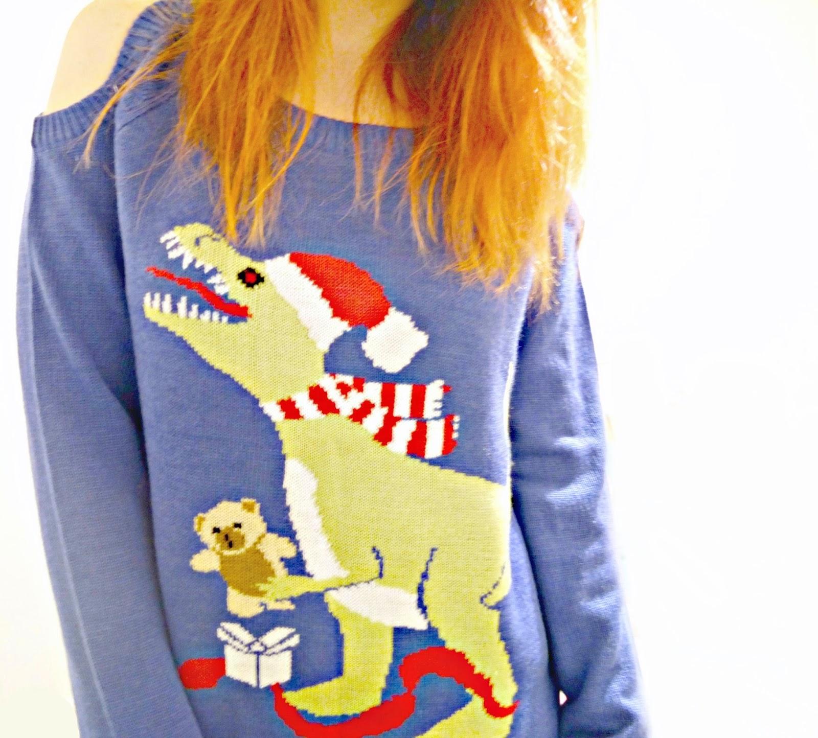 Funny Christmas Jumper Dinosaur xmas jumper