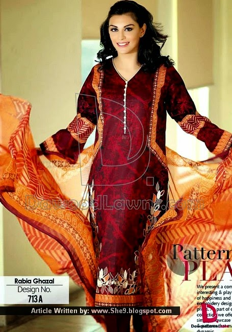 Designer Rabia Gazal's Embroidered Lawn Designs