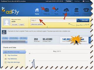 شرح موفع adf.ly لاختصار الروابط و الريح منه