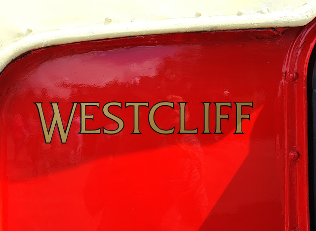 Red and Cream Westcliffe  bus. Photograph by Tim Irving